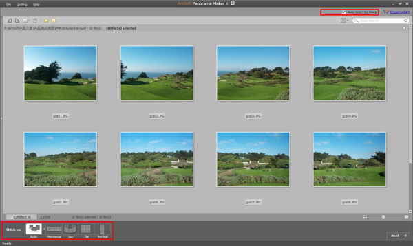 How to stitch photos into a panorama
