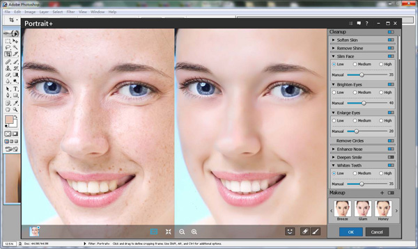 Really Photoshop facial retouch excellent
