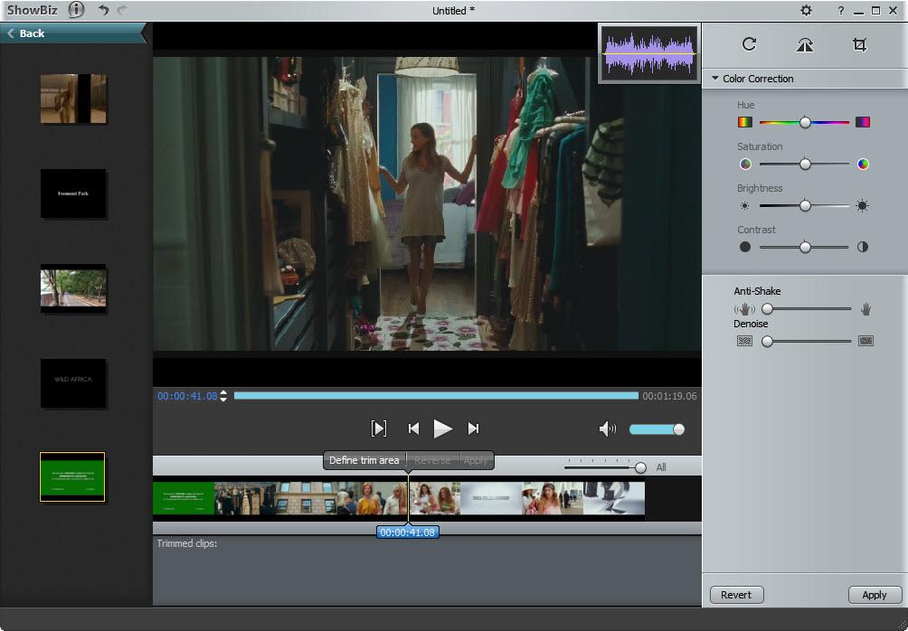 Showbiz Video Editing