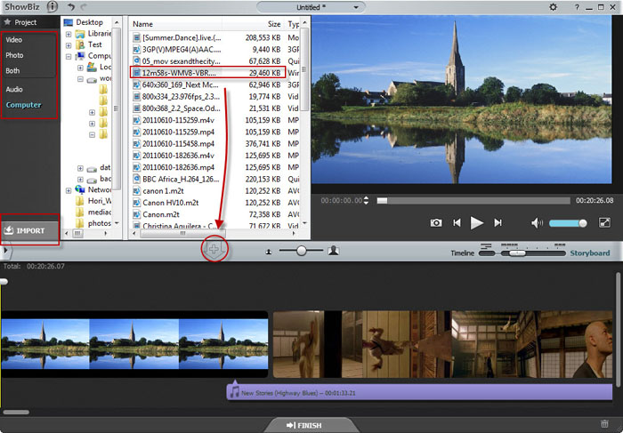 Import Canon FS Video