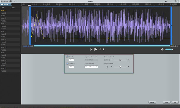 Audio editing in video editing software